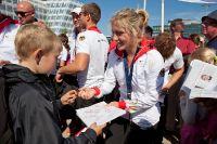 Empfang der Olympia-Sportler in Hamburg