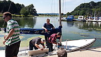 Bootspflege am 2.August