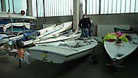 Bootswartung in der Halle